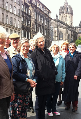 Trollope Society members in Edinburgh