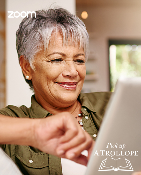 photo of a woman using a tablet