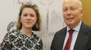 Dr Sophie Ratcliffe and Lord Fellowes