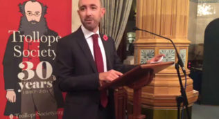 Dr Lucca Caddia speaking at the National Liberal Club