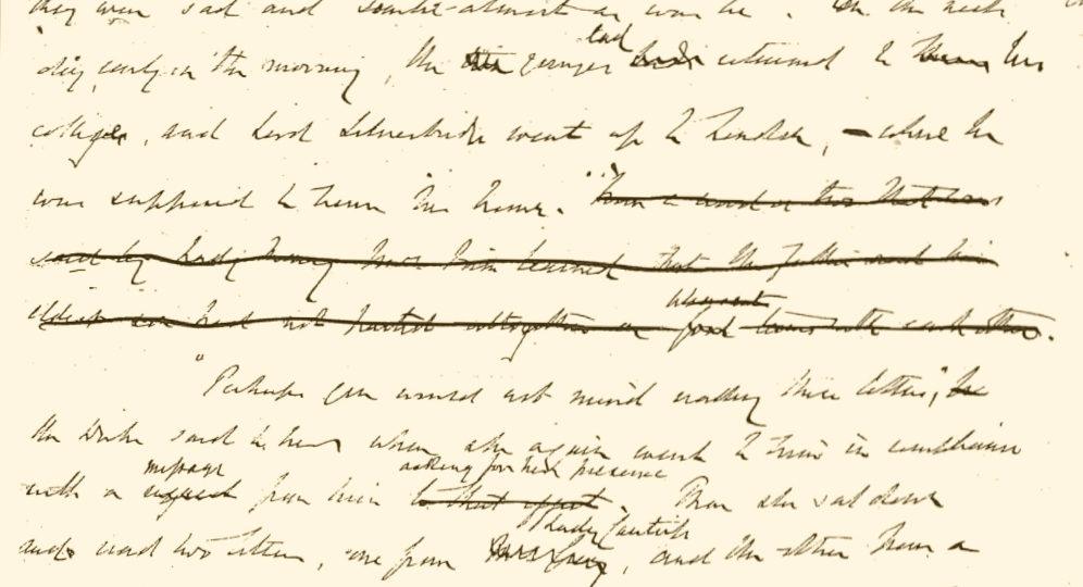 image of the manuscript of The Duke's Children