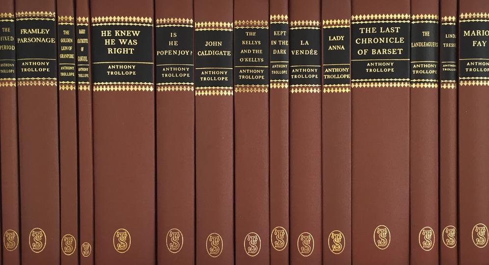 shelf of Trollope Society books